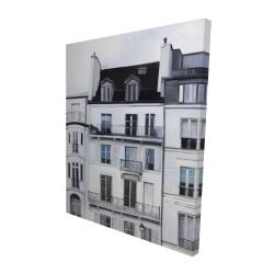Canvas 48 x 60 - 3D - Buildings along the seine river