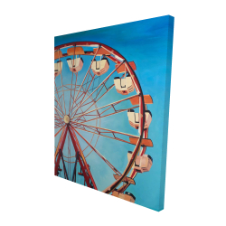 Canvas 48 x 60 - 3D - Ferris wheel by a beautiful day