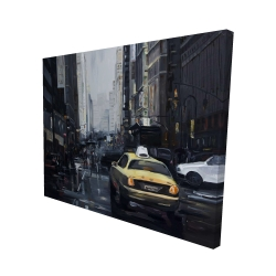 Canvas 48 x 60 - 3D - New york in the dark