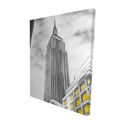 Canvas 48 x 60 - 3D - Outline of empire state building