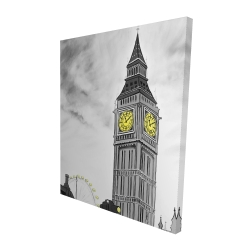 Canvas 48 x 60 - 3D - Outline of big ben in london