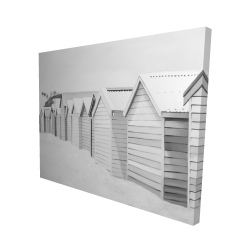 Canvas 48 x 60 - 3D - Beach cabins