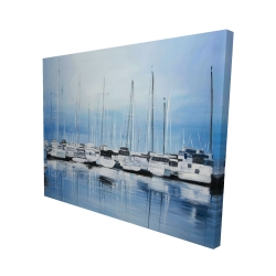Canvas 48 x 60 - 3D - Boats at the dock