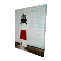 Canvas 48 x 60 - 3D - Sankaty head lighthouse