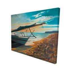 Canvas 48 x 60 - 3D - Peaceful seaside