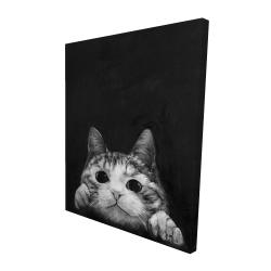 Canvas 48 x 60 - 3D - Curious cat