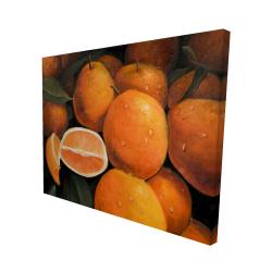 Canvas 48 x 60 - 3D - Fresh oranges