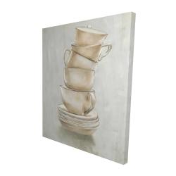 Canvas 48 x 60 - 3D - Coffee mugs