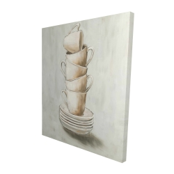 Canvas 48 x 60 - 3D - Stacked cups