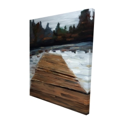 Canvas 48 x 60 - 3D - Dock and lake