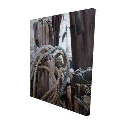 Canvas 48 x 60 - 3D - Driftwood