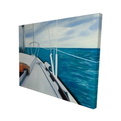 Canvas 48 x 60 - 3D - Sail on the water