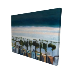 Canvas 48 x 60 - 3D - Bird's eye view of beach