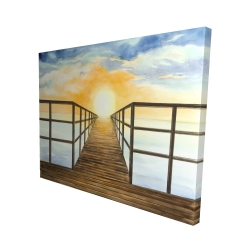 Canvas 48 x 60 - 3D - Sunset in the sea