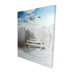 Canvas 48 x 60 - 3D - Break at the beach