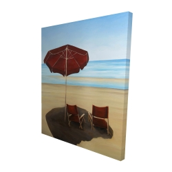 Canvas 48 x 60 - 3D - Relax at the beach