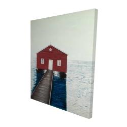 Canvas 48 x 60 - 3D - Boathouse