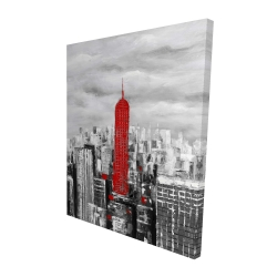 Canvas 48 x 60 - 3D - Empire state building of new york