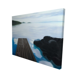 Canvas 48 x 60 - 3D - Evening on the dock