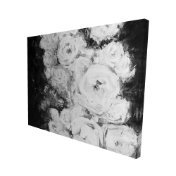Canvas 48 x 60 - 3D - Monochrome rose garden