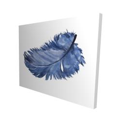 Canvas 48 x 60 - 3D - Watercolor blue feather