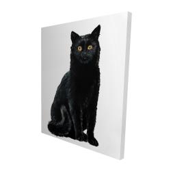 Canvas 48 x 60 - 3D - Black cat