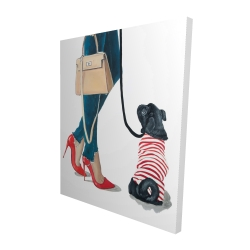 Canvas 48 x 60 - 3D - Best friends fashion