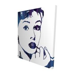 Canvas 48 x 60 - 3D - Audrey hepburn: cigarillo