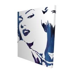 Canvas 48 x 60 - 3D - Marilyn monroe in blue