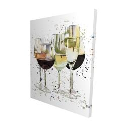 Canvas 48 x 60 - 3D - Beautiful wine glasses