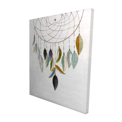 Canvas 48 x 60 - 3D - Dreamcatcher with feathers