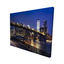 Canvas 48 x 60 - 3D - City at night