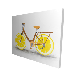 Canvas 48 x 60 - 3D - Lemon wheel bike