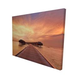 Canvas 48 x 60 - 3D - Sea villas