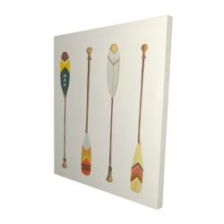 Canvas 48 x 60 - 3D - Canoe paddles