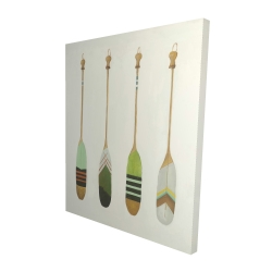 Canvas 48 x 60 - 3D - Colorful nautical oars