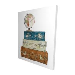 Canvas 48 x 60 - 3D - Go around the world