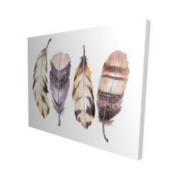 Canvas 48 x 60 - 3D - Purple feather set