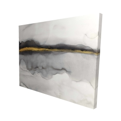 Canvas 48 x 60 - 3D - Gold stripe abstract