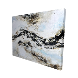 Canvas 48 x 60 - 3D - Abstract and texturized paint splash
