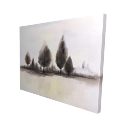 Canvas 48 x 60 - 3D - Landscape of trees