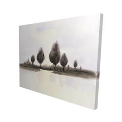 Canvas 48 x 60 - 3D - Abstract landscape of trees