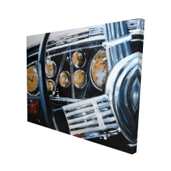 Canvas 48 x 60 - 3D - Vintage car interior