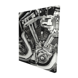 Canvas 48 x 60 - 3D - Mechanism of a motorcycle