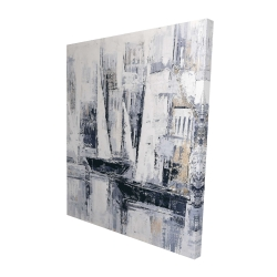 Canvas 48 x 60 - 3D - Industrial style sailboats