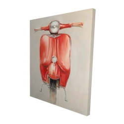 Canvas 48 x 60 - 3D - Small red moped
