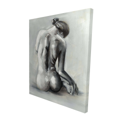 Canvas 48 x 60 - 3D - Nude woman from behind