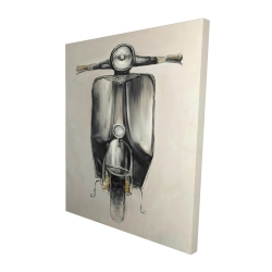 Canvas 48 x 60 - 3D - Small black moped