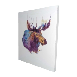 Canvas 48 x 60 - 3D - Abstract moose