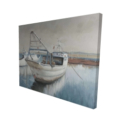 Canvas 48 x 60 - 3D - Fishing boat desatured